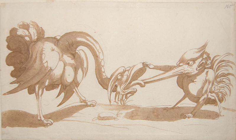 Arent van Bolten - Monster 185, from collection of 425 drawings, 1588-1633