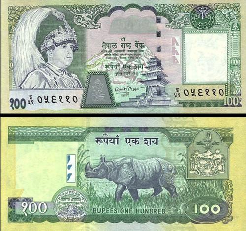 100 Rupií Nepál 2002, P49a