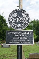 Photo of Crescent Valley Cemetery, Victoria, TX black plaque