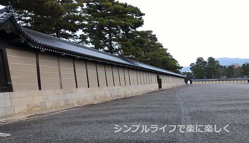 京都御所、築地塀
