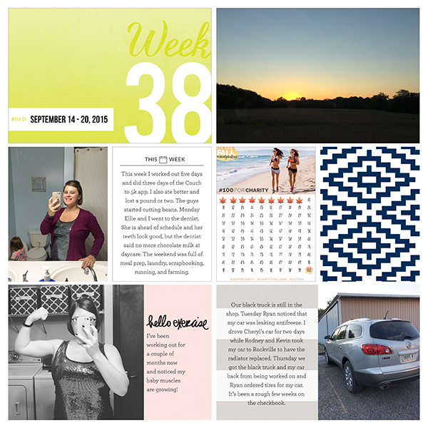 2015 Project Life - Week 38 Left