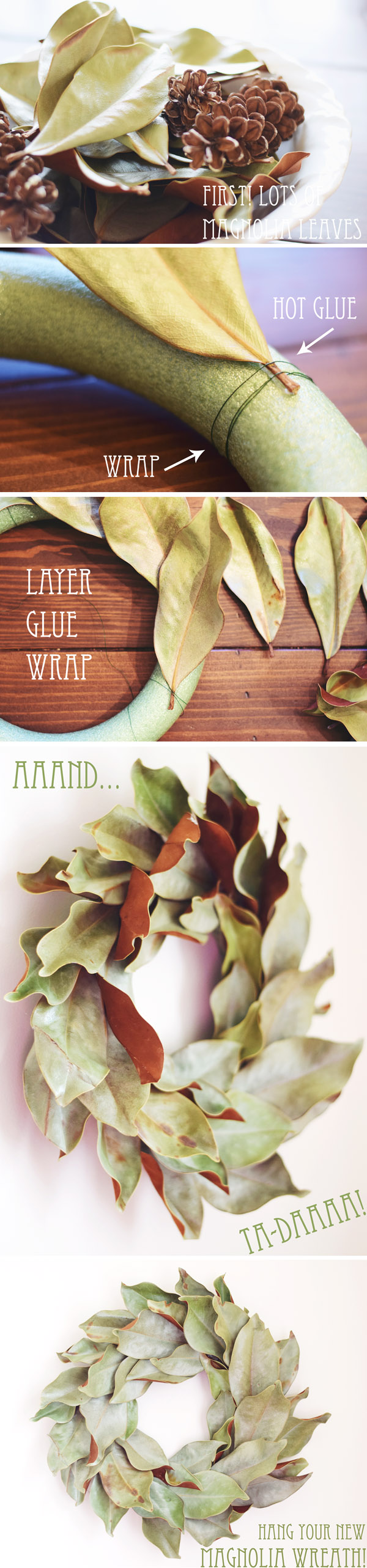 make a magnolia wreath