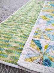 Citron and Aqua Sampler Quilt