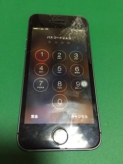38_iPhone5Sのフロントパネルガラス割れ