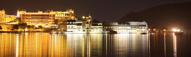 Taj Lake Palace at night