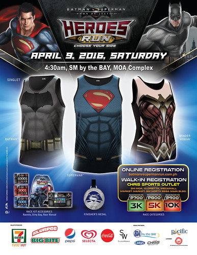 Batman V Superman: Heroes Run - Fun Run in SM MOA April 9