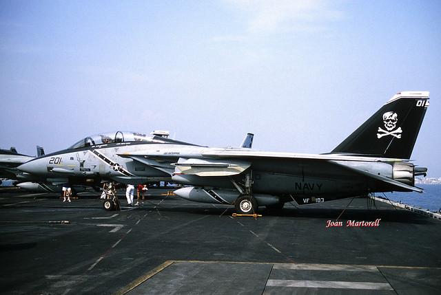 US Navy 163224 AA-201 Grumman F-14B Tomcat CVN-65 06-1996