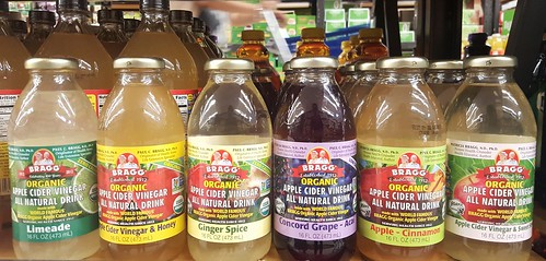 Bragg organic apple cider vinegar all natural drink limeade , honey , ginger spice , Concord grape - acai , apple - cinnamon , sweet 16 oz / 473 ml Php 169 at Gaisano Mall Davao Supermarket