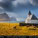 Faroe Islands - Vidoy Island - Classic view of Vidareidi church with cliffs of Bordoy and Kunoy islands by © Lucie Debelkova / www.luciedebelkova.com