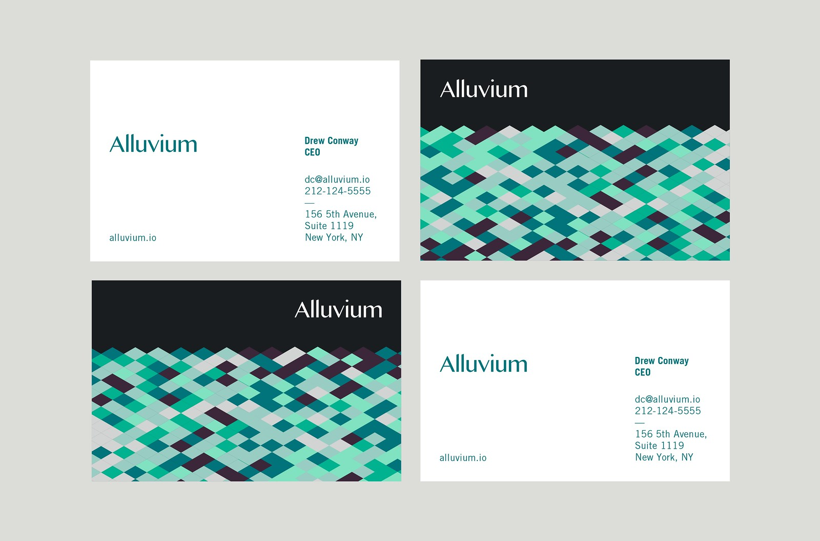 Alluvium Business Cards