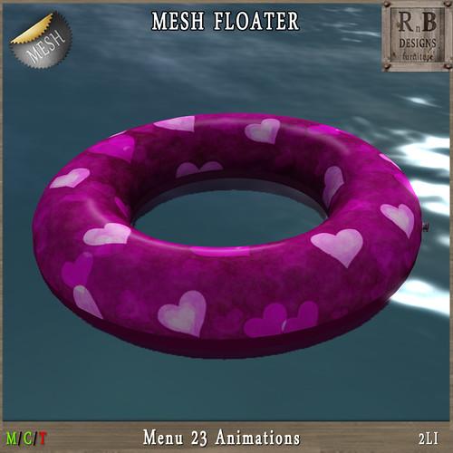 Thrift Shop GIFT !!! *RnB* Mesh Floater - Hearts - 23 Anims