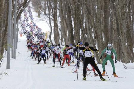 Lyžařský maratón v zemi vycházejícího slunce