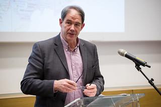 Jonathon Porritt, CBE giving the UCL annual Global Citizenship lecture. Photographer: Kirsten Holst