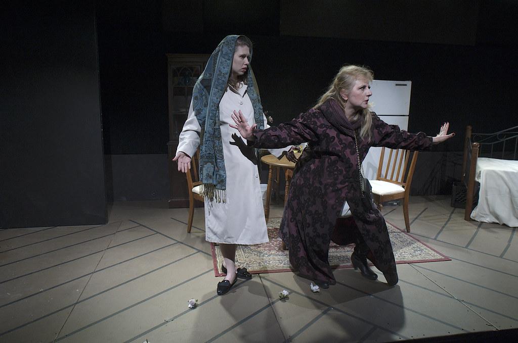 "<p>Moriah Whiteman as Margherita and Hanna Bondarewska as Antonia in ""They Don't Pay? We Won't Pay!"" BY Dario Fo<br /> <br /> Photo by Valentin Radev</p>"