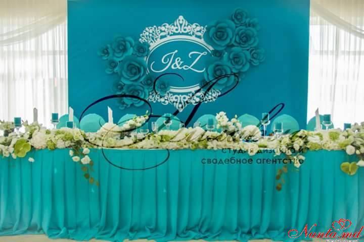 """Decor pentru nuntă şi floristică de la Agentia  """"Айлавью""""  > Turcoazul – alegerea îndrăzneaţă!"""