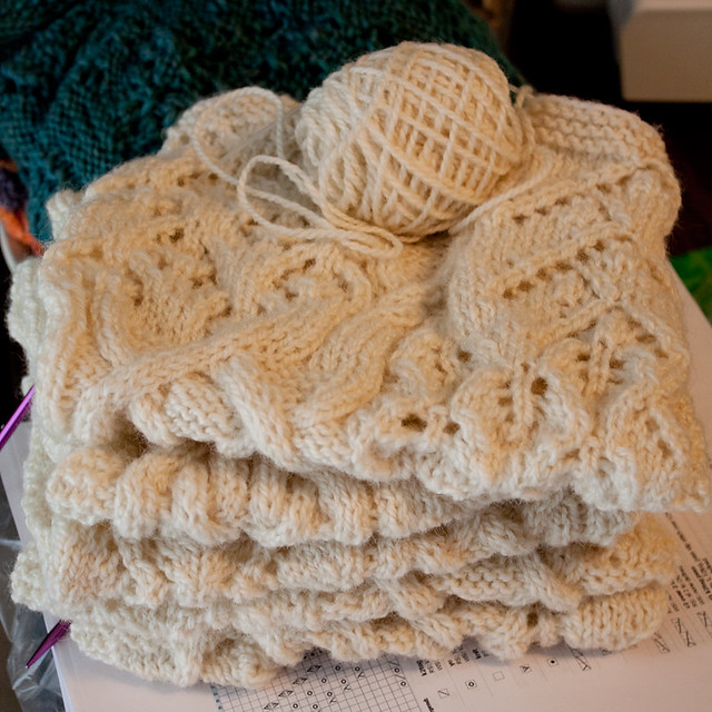 Cables and Lace Advent Scarf 2015