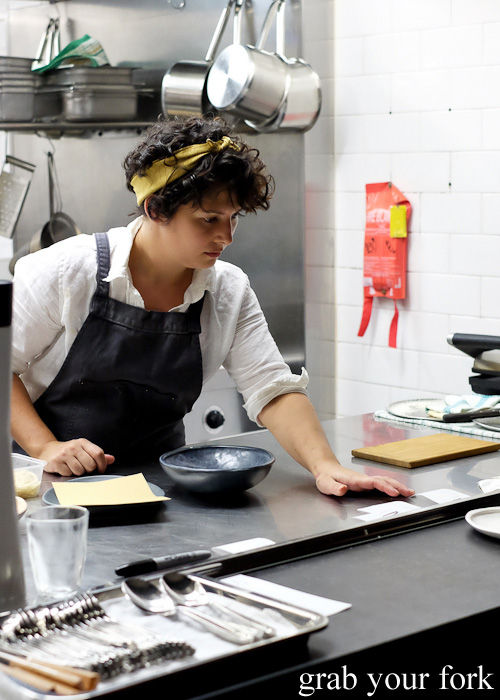 Head chef Analiese Gregory at Bar Brose, Darlinghurst