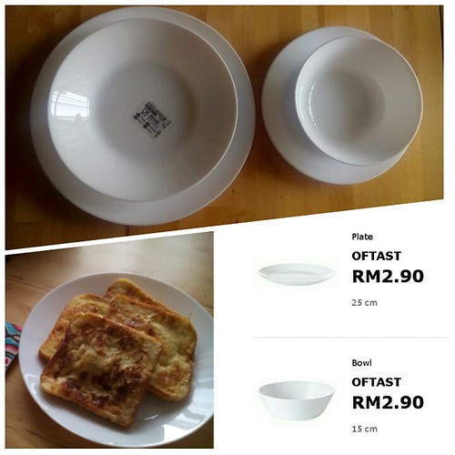 I love these Oftast plates from Ikea. Simple, inexpensive and lightweight #ikea