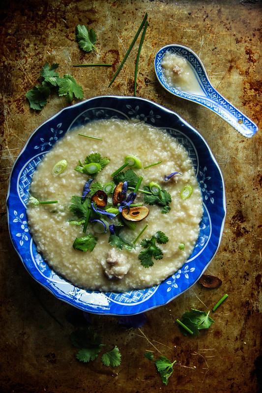 Thai Pork and rice Porridge
