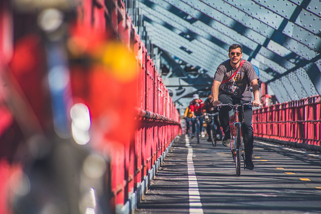 Crossing the Williamsburg Bridge, New York
