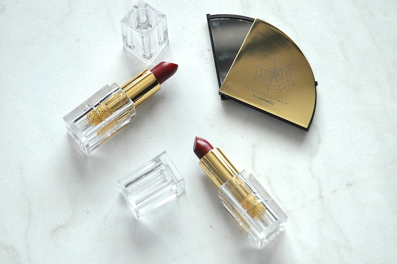 Mac x Charlotte Olympia lipstick and mirror