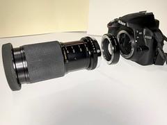 Nikon D3300 with Olympus OM lens