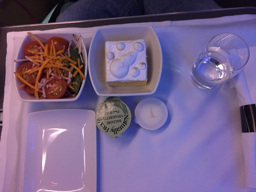 Meal tray on Cathay Pacific Business Class
