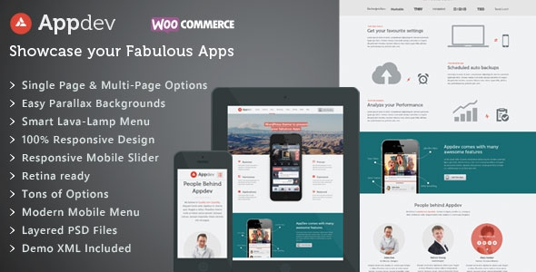Appdev v3.2 - Mobile App Showcase WordPress Theme