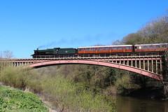 Steam locomotive 7802 Bradley Manor on the Severn Valley Railway.