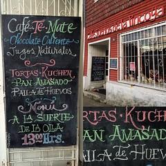 Unos letterings con tiza para el Café Sueños de la Pincoya.