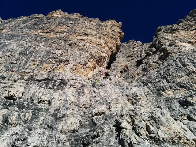 Aufstieg Große Zinne, leichte Kletterei