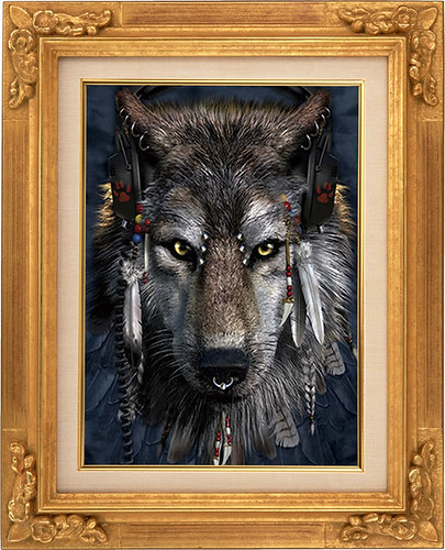 Stylish Wolf Lenticular 3d Picture Animal Poster Painting