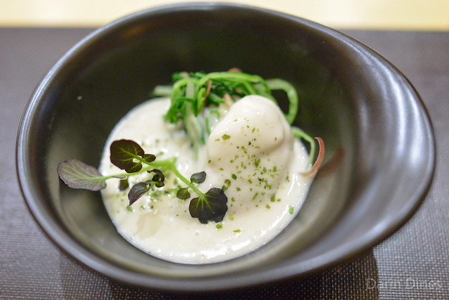 Halibut Cheek cream sauce