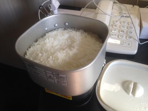 トラベルマルチクッカーでご飯を炊いてみた