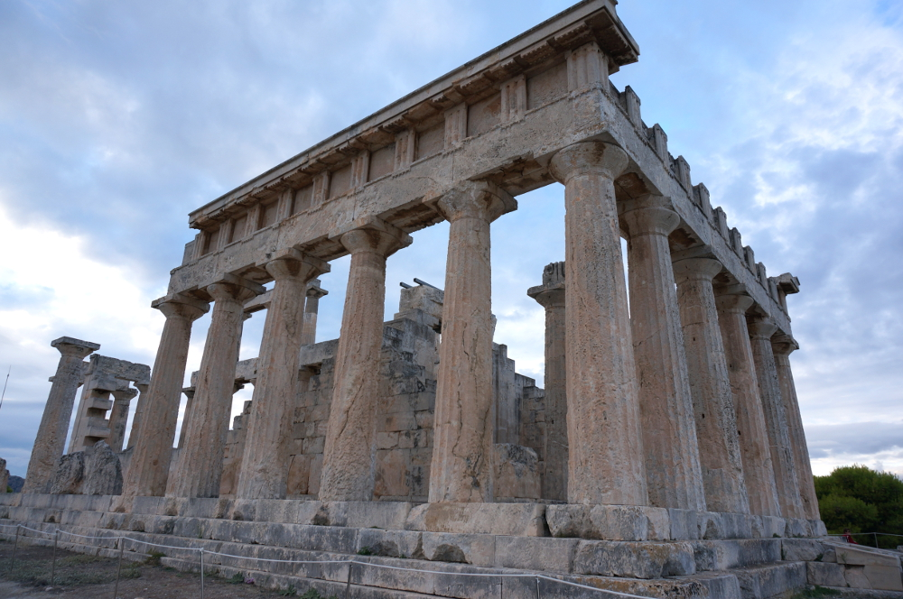 Temple of the Goddess Aphaia on the Greek Island Aegina