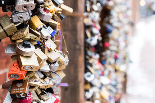 Love Locks in Toronto's Distillery District