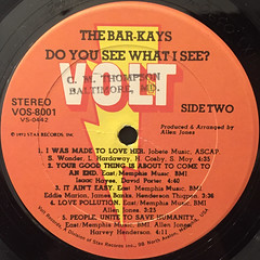 THE BAR-KAYS:DO YOU SEE WHAT I SEE?(LABEL SIDE-B)