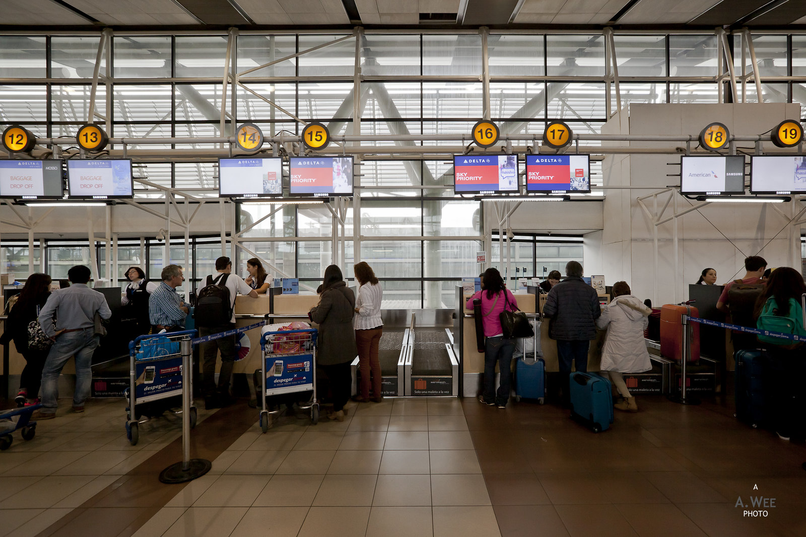 Sky Priority check-in desks