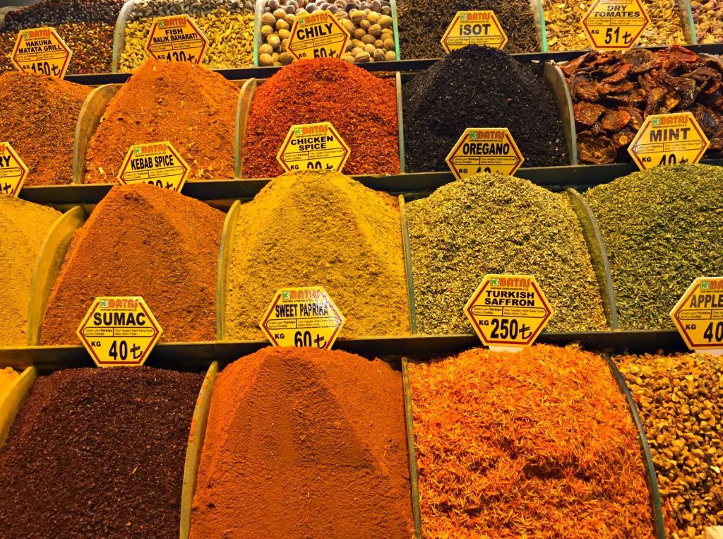Assortment of Istanbul Spices