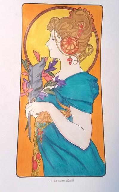 La Plume coloring process