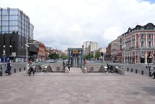 Jean Jaurès の画像. b france station subway frankreich metro ubahnhof val ubahn toulouse öpnv hautegaronne jaurès undergrond ligneb jeanjaurès lignea a tisseo