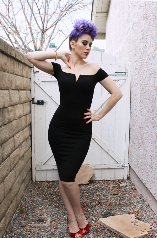 Doll Me Up Siren Dress in Black