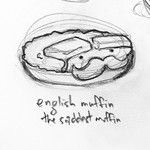 Sketch of an English muffin for this week's upcoming Spudart Comic. #sketch #drawing #cartoon #comic #funny #food #englishmuffin #pencilsketch #pencildrawing