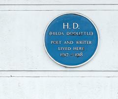 Photo of Hilda Doolittle blue plaque