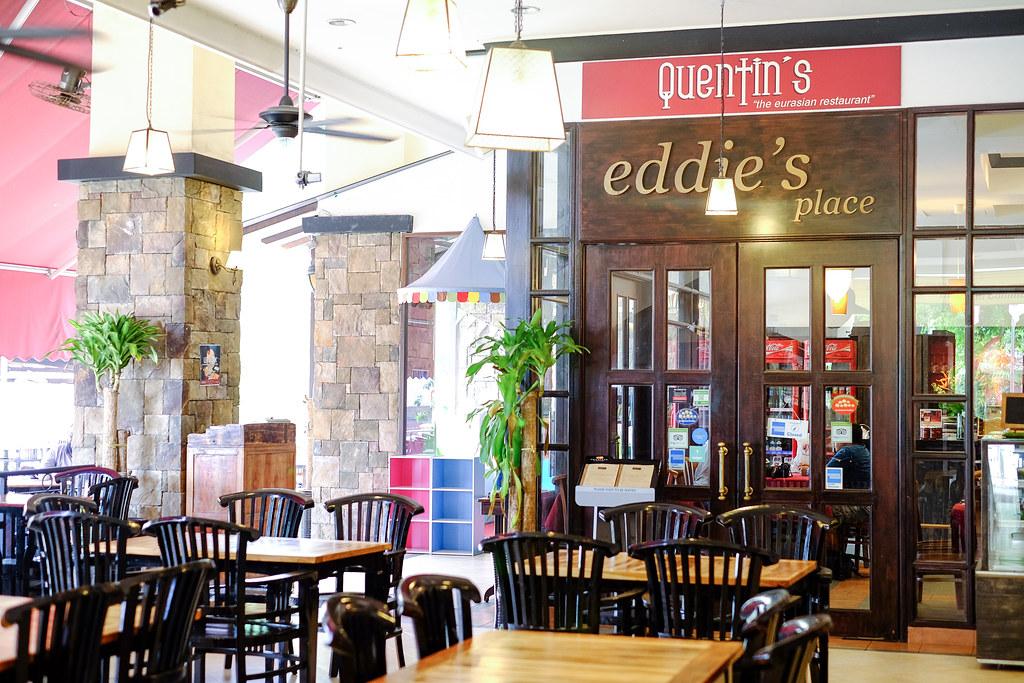 昆廷的欧亚餐厅的主要入口和座位vwin备用