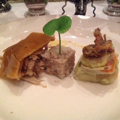 Lechon suman flavored with truffle fish
