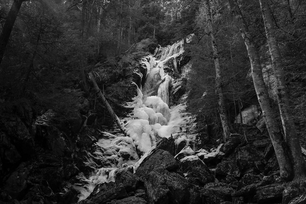 Race Brook Falls with ice