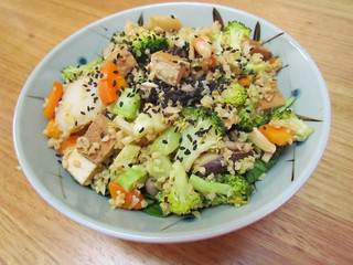 Freekey Stir-Fry Bowl with Broccoli and Shiitake