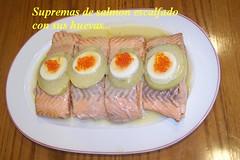Supremas de salmón con sus huevas