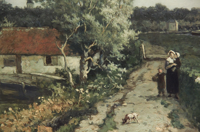 "The Trekvliet Shipping Canal near Rijswijk, known as the ""View near the Geest Bridge"", Jhon Hendrik Weissenbruch, 1868"